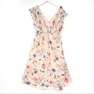 Jessica Simpson Blush Pink floral maternity dress